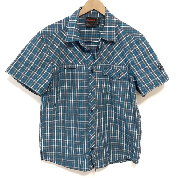 Mammut short sleeve casual button up collared L